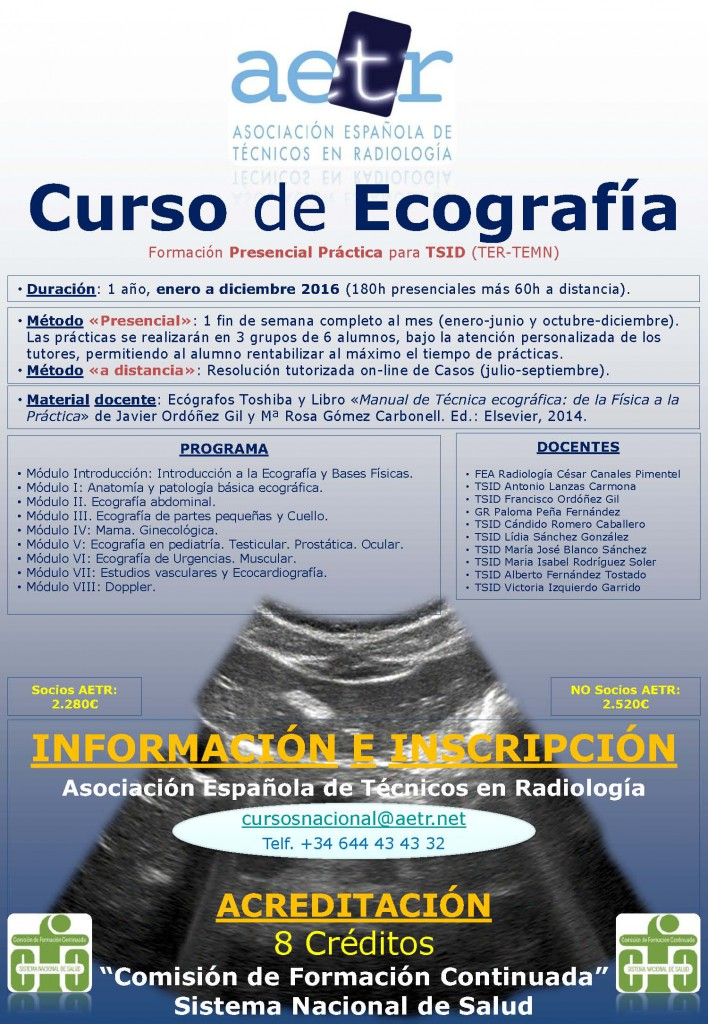 Curso Ecografía 2016 en Madrid