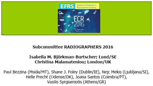 ECR 2016 Radiographer Sessions