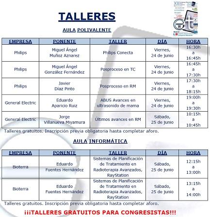 Congreso 2016 - Talleres