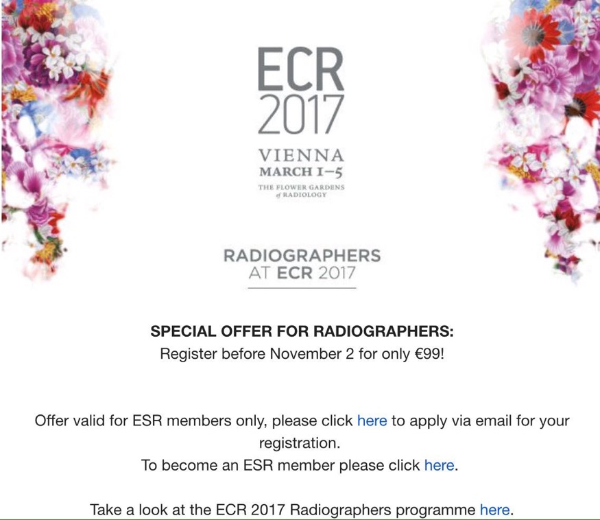 Oferta en inscripción para socios de la ESR