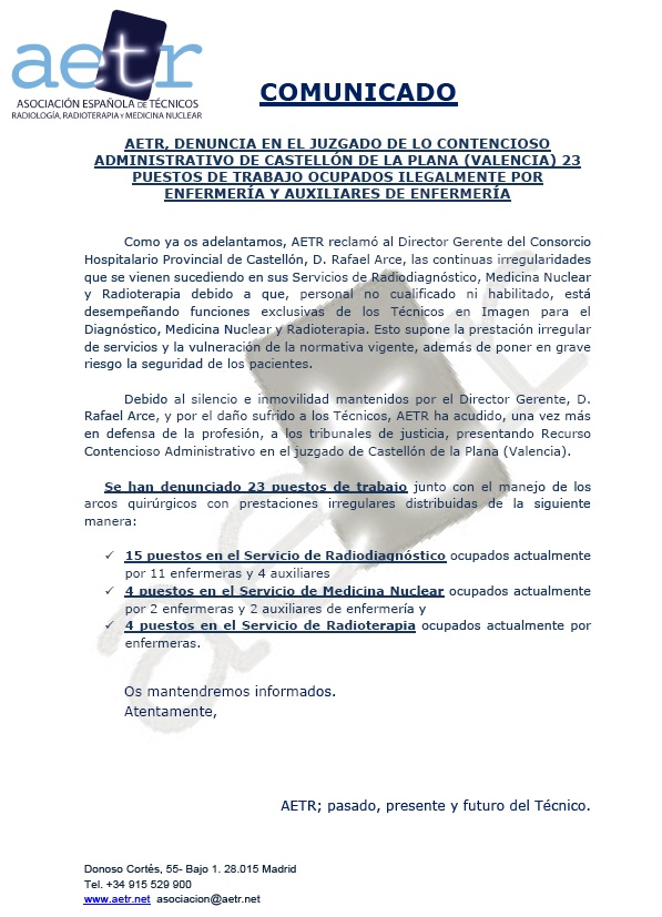 AETR denuncia 23 puestos de trabajo ocupados ilegalmente