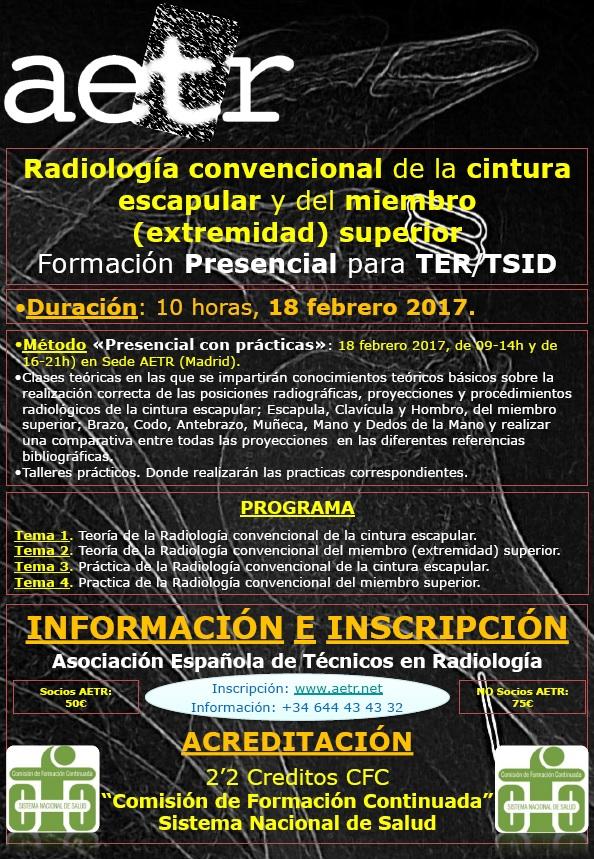 """Curso Presencial: """"Radiología convencional de la cintura escapular y del miembro (extremidad) superior"""""""