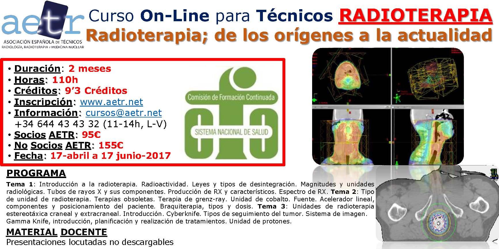 Radioterapia; de los orígenes a la actualidad