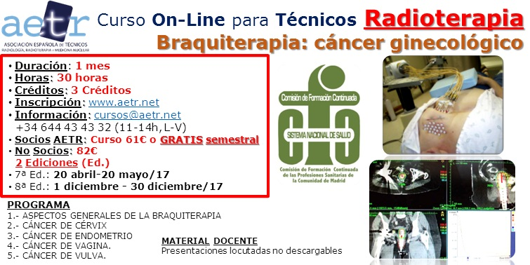 Curso On-Line para Técnicos RADIOTERAPIA – Braquiterapia: cáncer ginecológico