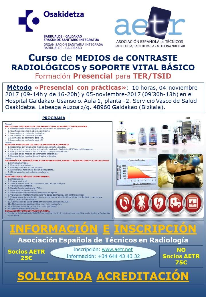 MEDIOS de CONTRASTE RADIOLÓGICOS y SOPORTE VITAL BÁSICO