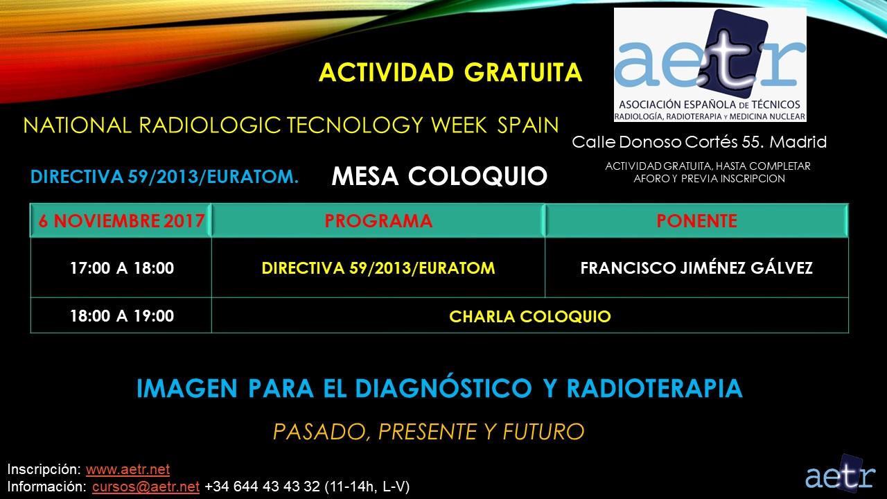 Mesa Redonda sobre la DIRECTIVA 59/2013/EURATOM