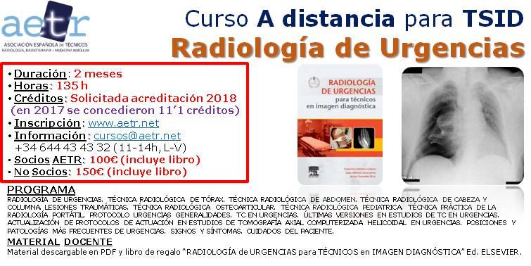 Curso a distancia para TSID: Radiología de Urgencias