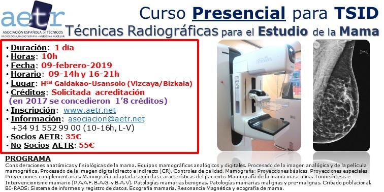 Curso Técnicas Radiográficas para el Estudio de la Mama (feb19)
