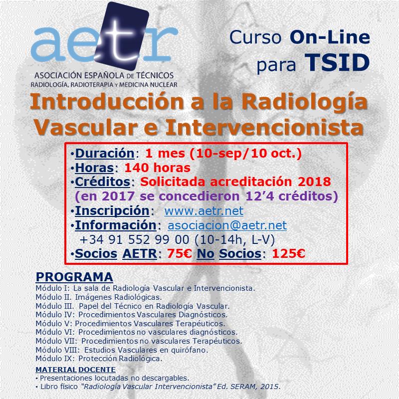 Curso On-Line para TSID – Introducción a la Radiología Vascular e Intervencionista