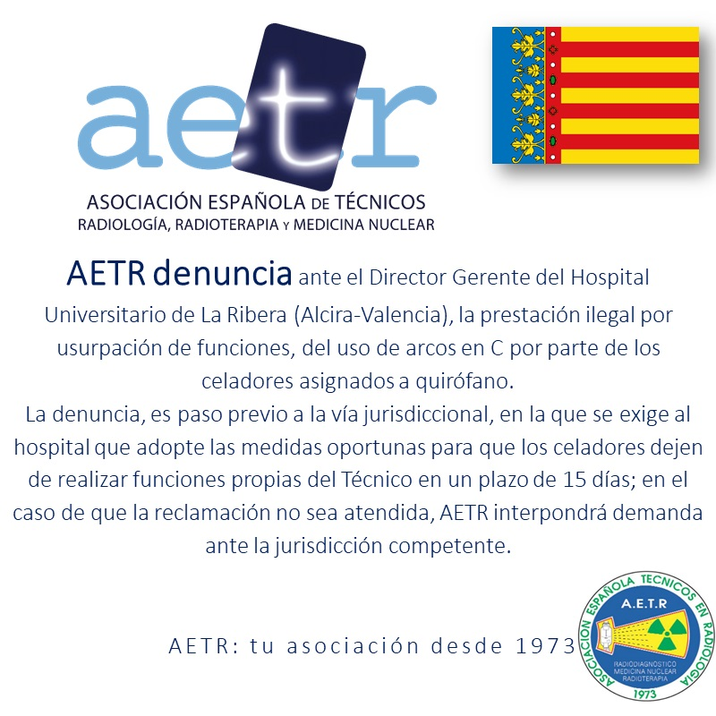 AETR – denuncia (Hospital Universitario de La Ribera)