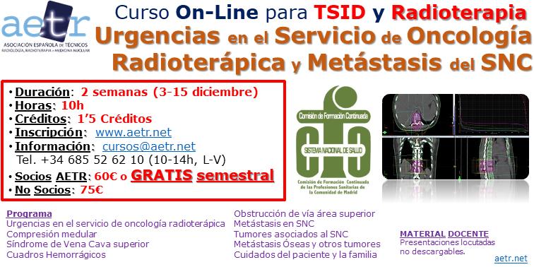 Curso Urgencias en Servicio Oncología Radioterápica y metástasis del sistema nervioso central