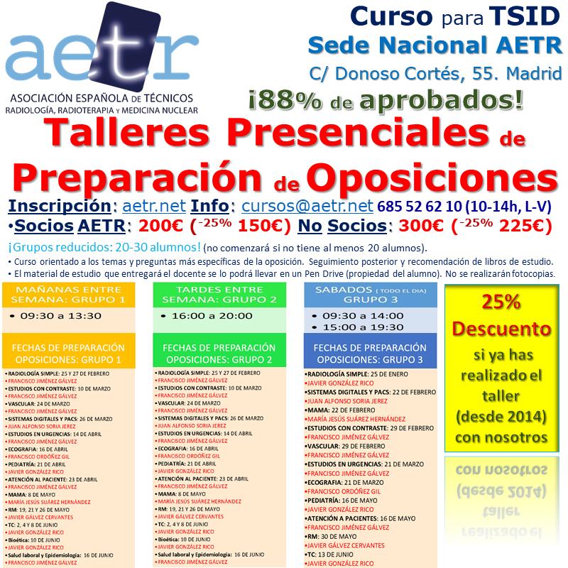 Curso Talleres Presenciales de Preparación de Oposiciones para TSID