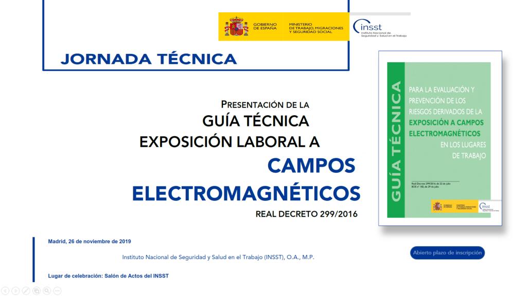 Jornada de presentación Guía técnica Campos electromagnéticos