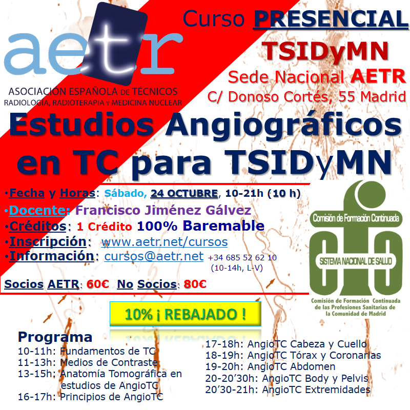 Curso Estudios Angiográficos en TC para TSIDyMN