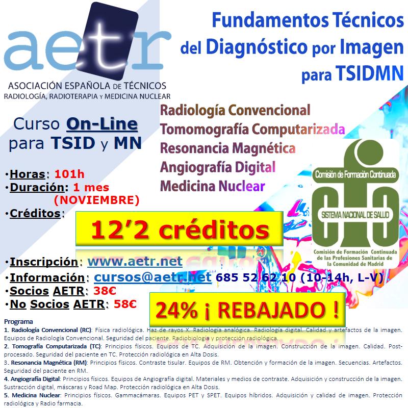 Curso Fundamentos Técnicos del Diagnóstico por Imagen para TSIDyMN