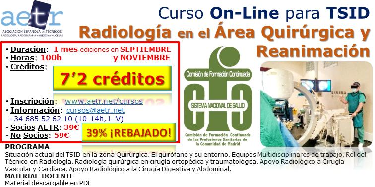 Curso Radiología en el área quirúrgica y Reanimación