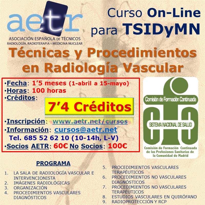 Curso Técnicas y procedimientos en Radiología Vascular