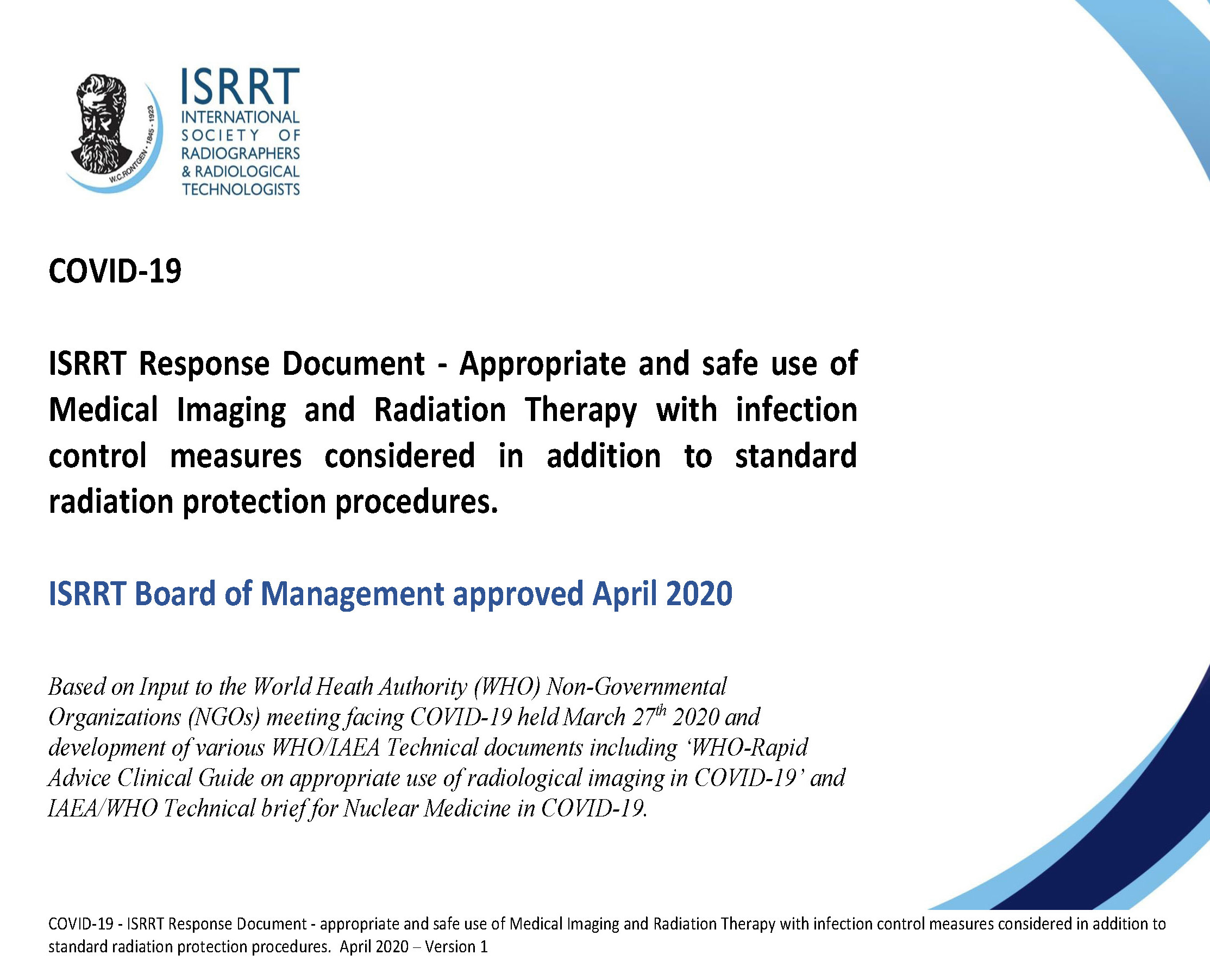 NEW_ISRRT_COVID_19_Response_document