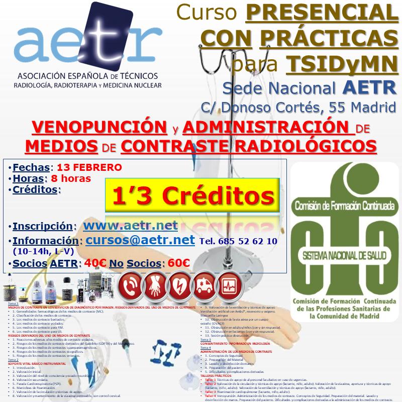 Curso de Venopunción y administración de medios de contraste radiológicos (feb21)