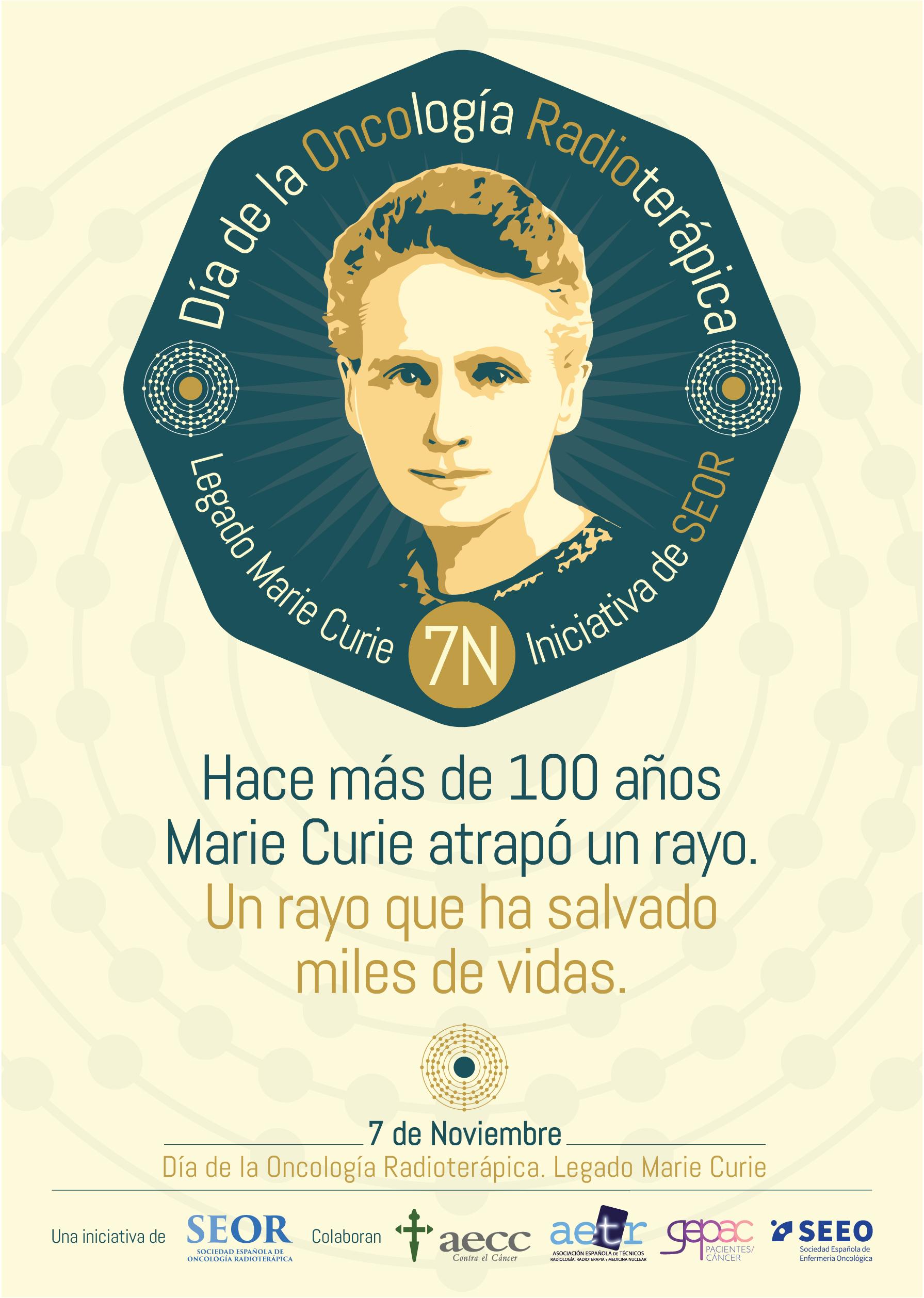 SEOR promueve el 7 de noviembre como Día de la Oncología Radioterápica en España. Legado Marie Curie.