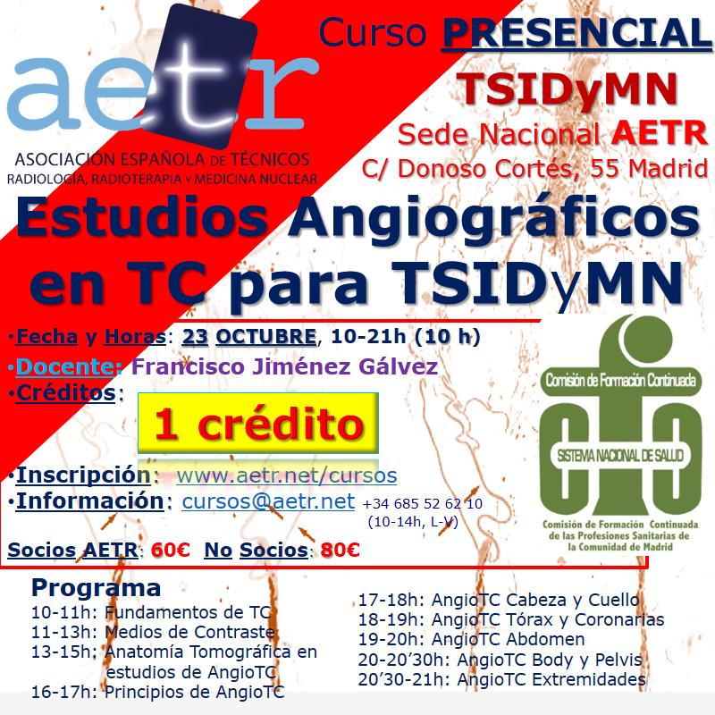 Curso de Estudios Angiográficos en Tomografía Computarizada (oct21)